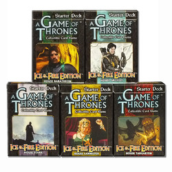 Spiel Bundle A Game of Thrones Ice & Fire House 5 Starter Decks