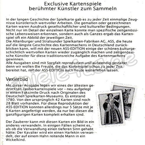 500x500 ASS-Edition Vexierbilder gebraucht ASS Altenburger Spielkarten