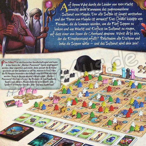 500x500 Five Tribes gebraucht Days of Wonder