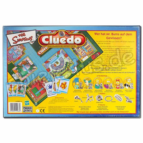 500x500 Cluedo The Simpsons gebraucht HASBRO