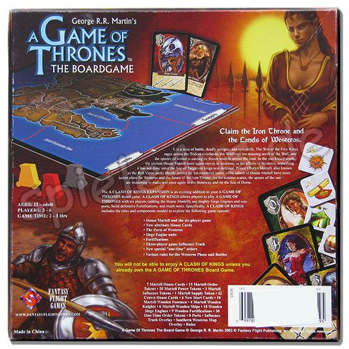 500x500 Game Of Thrones Board Game Clash Of Kings Expansion gebraucht Fantasy Flight Games