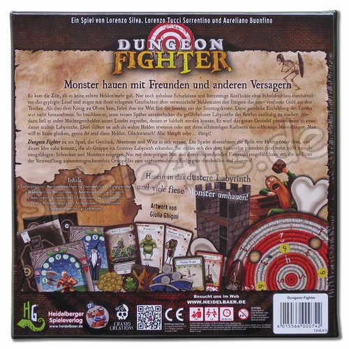 500x500 Dungeon Fighter DEUTSCH NEUAUFLAGE gebraucht Cranio Creations/Heidelberger