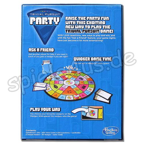 500x500  Trivial Pursuit Party ENGLISCH gebraucht Hasbro Gaming