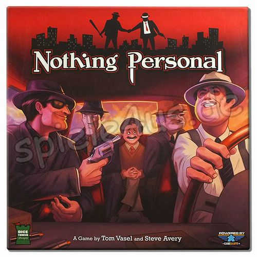 500x500 Nothing Personal ENGLISCH mit Gangster Deck + Young Turks Erw. gebraucht Dice Tower Games