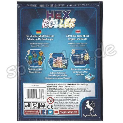 500x500 HexRoller  Frosted Games