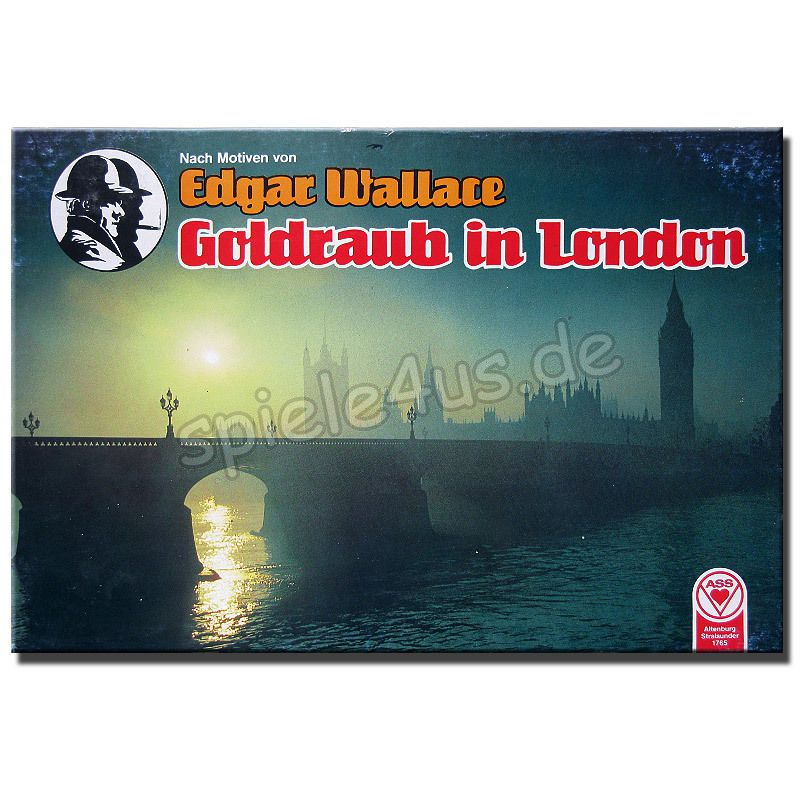 800x800 Edgar Wallace Goldraub in London gebraucht ASS Altenburger Spielkarten