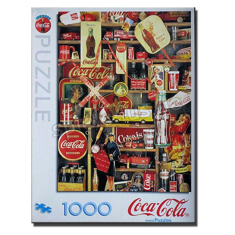 800x800 Coca-Cola Coke 1.000 Teile MB Puzzle gebraucht MB Spiele