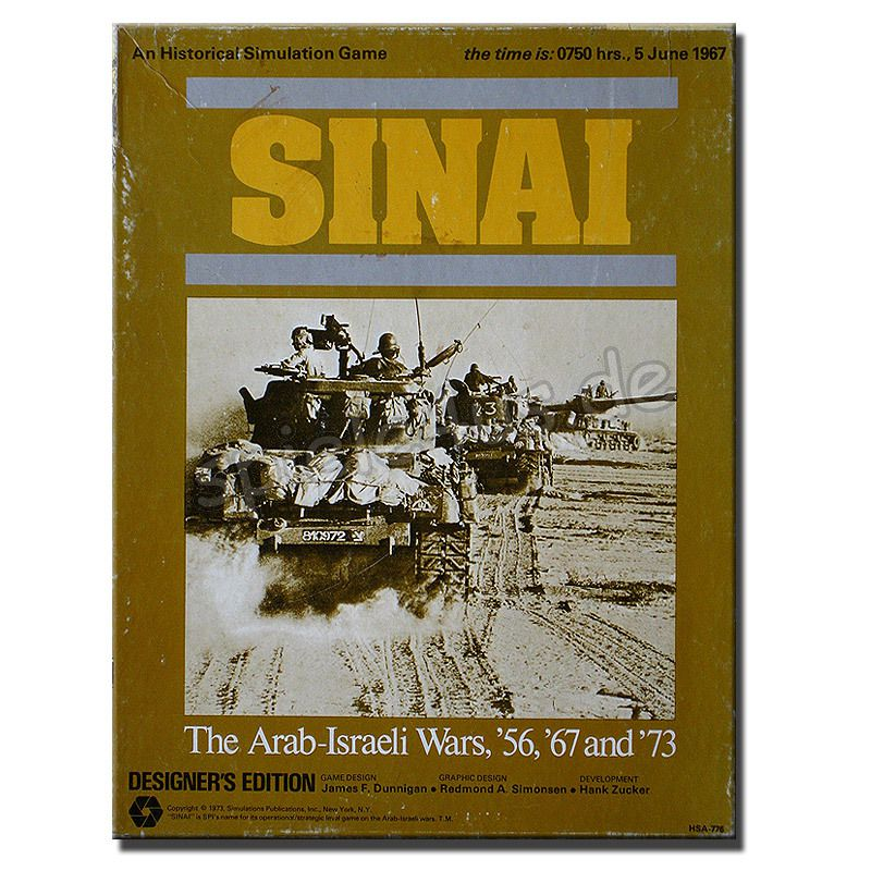 800x800 Sinai The Arab-Israeli Wars 56, 67 and 73 gebraucht Simulations Publications
