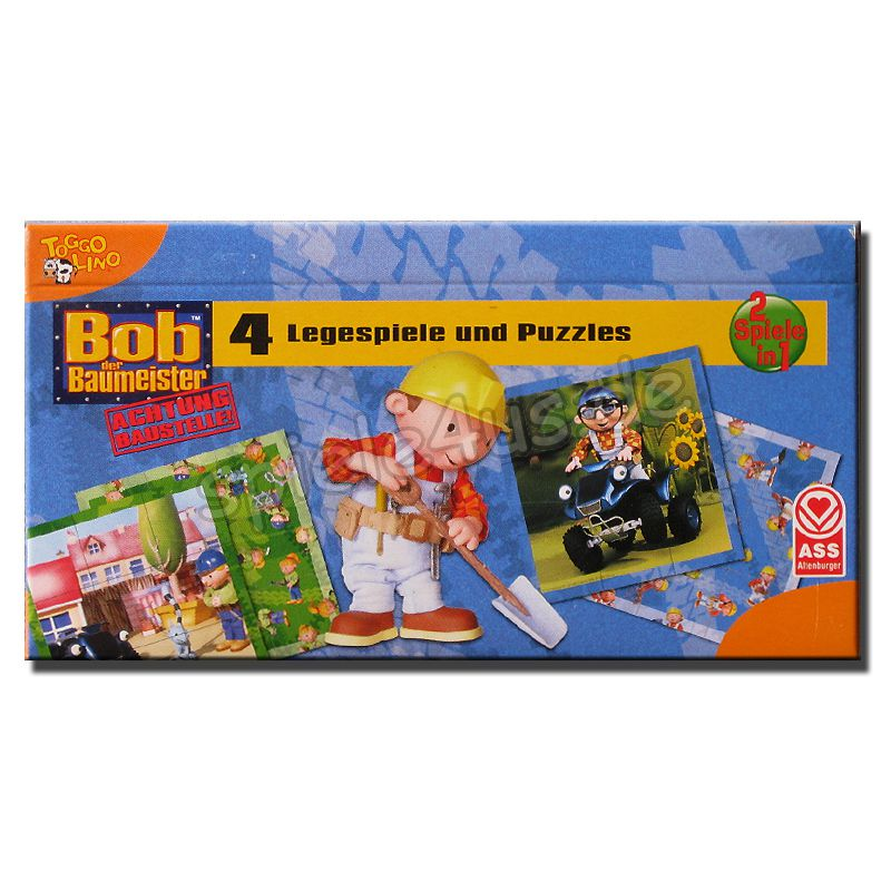800x800 Bob der Baumeister Legespiel ASS Altenburger Spielkarten