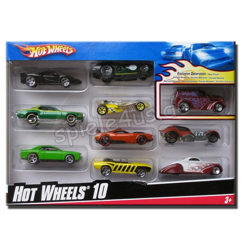 hot wheels geschenkset mit 10 autos g nstig kaufen. Black Bedroom Furniture Sets. Home Design Ideas