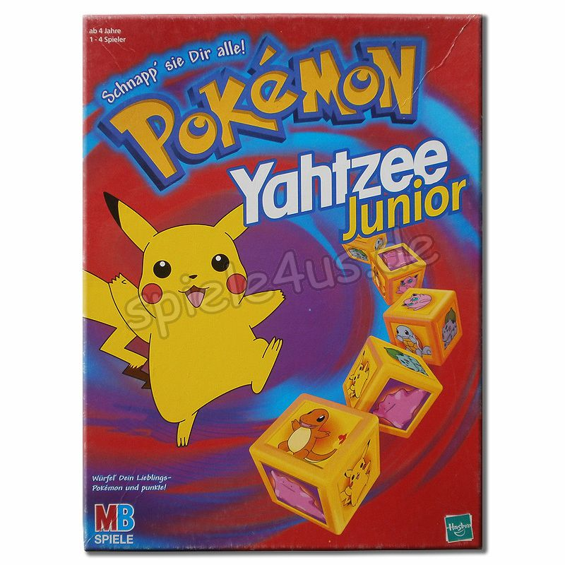 pokemon yahtzee junior spiel versandkostenfrei kaufen. Black Bedroom Furniture Sets. Home Design Ideas
