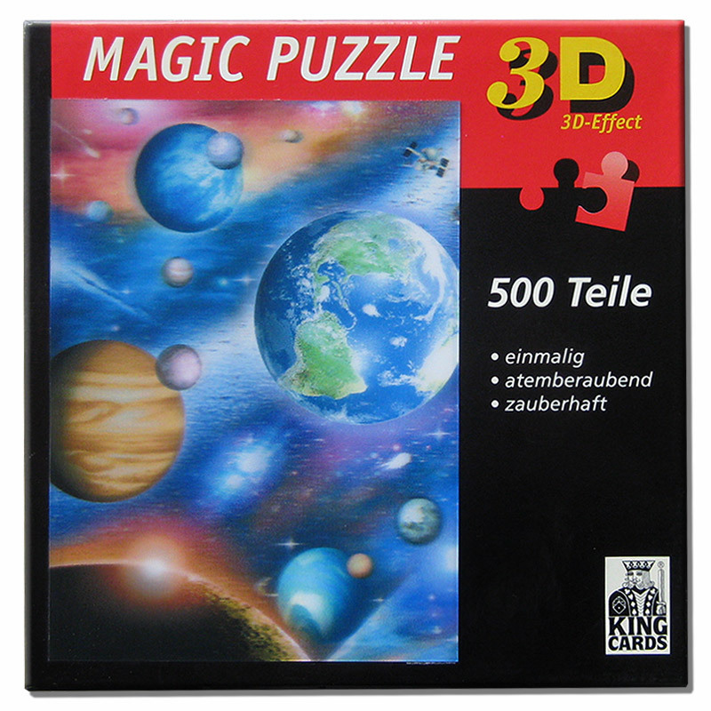 800x800 Universe 500 Teile 3 D Magic Puzzle gebraucht King Cards