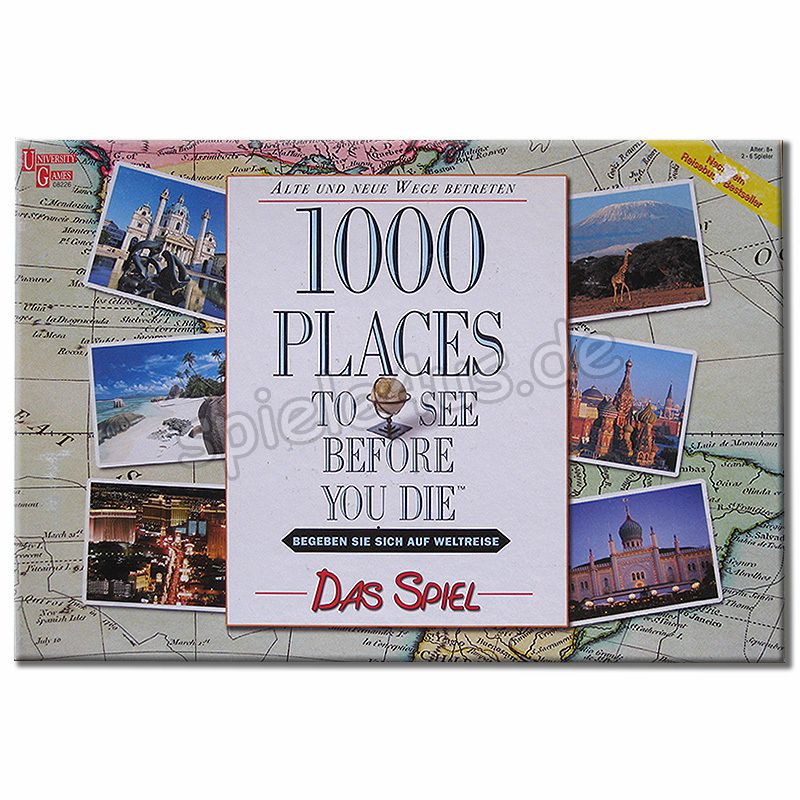 800x800 1000 places to see before you die gebraucht University Games