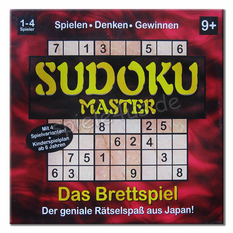 sudoku master brettspiel g nstig kaufen spiele4us. Black Bedroom Furniture Sets. Home Design Ideas