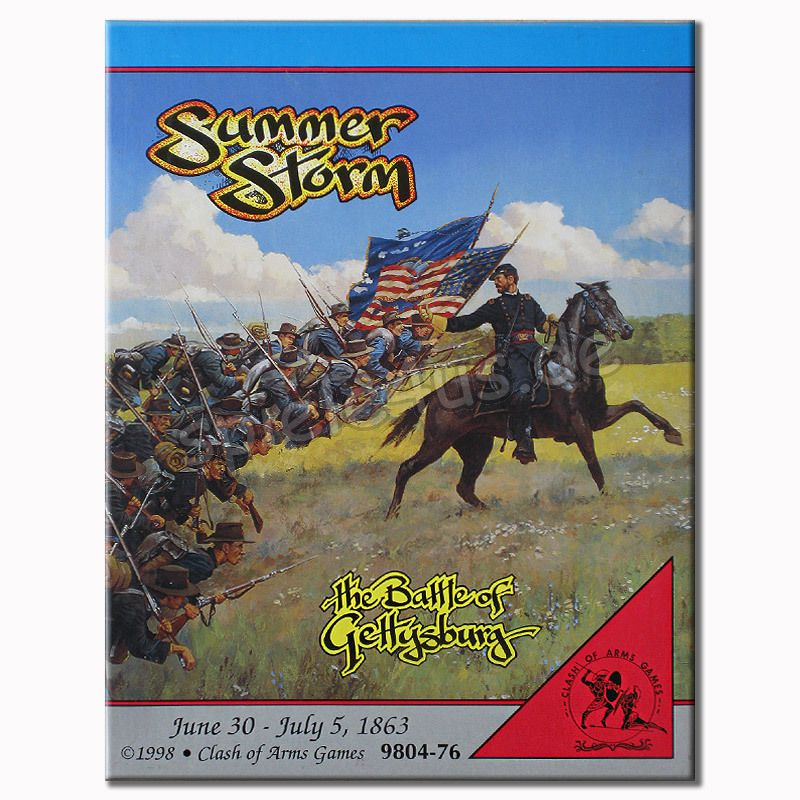 800x800 Summer Storm The Battle of Gettysburg gebraucht Clash of Arms Games