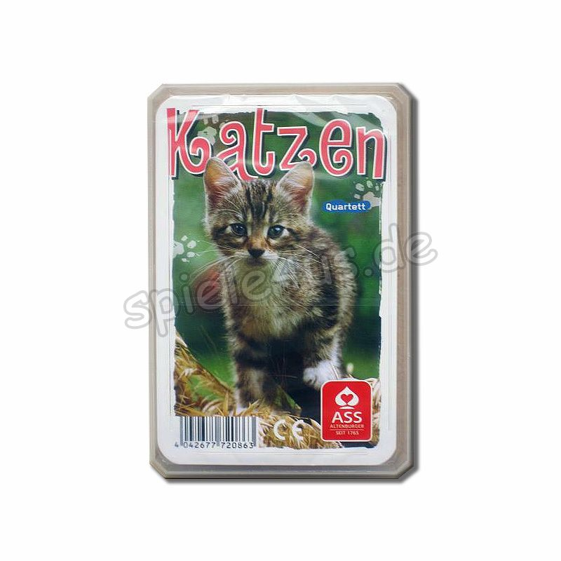 800x800 Quartett Katzen ASS Altenburger Spielkarten
